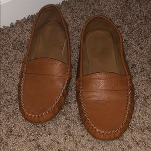 Cognac Leather Loafers